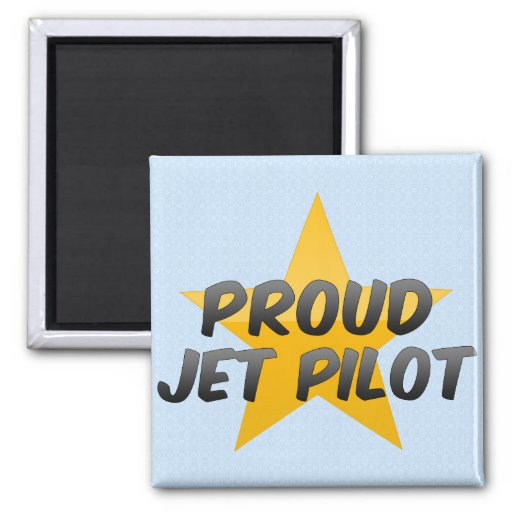 Piloto de jet orgulloso iman de frigorífico