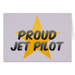Piloto de jet orgulloso tarjetón