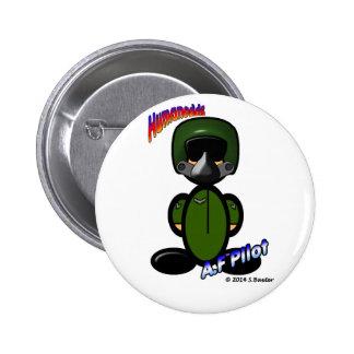 Piloto de la fuerza aérea (con los logotipos) pins