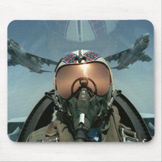 Piloto de la fuerza aérea alfombrilla de ratón