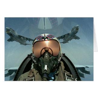 Piloto de la fuerza aérea tarjeta