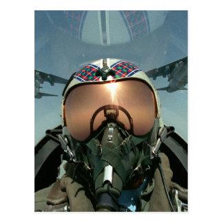 Piloto de la fuerza aérea postales