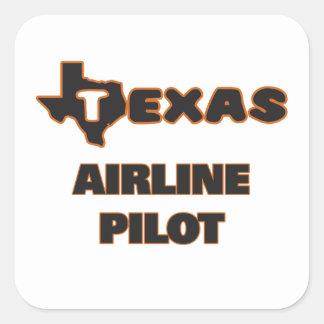 Piloto de la línea aérea de Tejas Pegatina Cuadrada