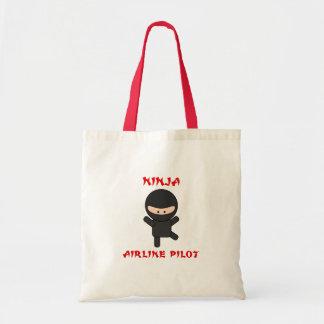 piloto de la línea aérea del ninja bolsa tela barata