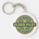 Piloto de planeador auténtico llaveros