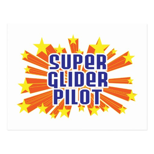 Piloto de planeador estupendo postal