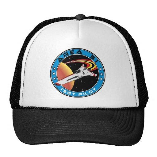 Piloto de prueba del área 51 gorras