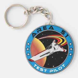 Piloto de prueba del área 51 llavero