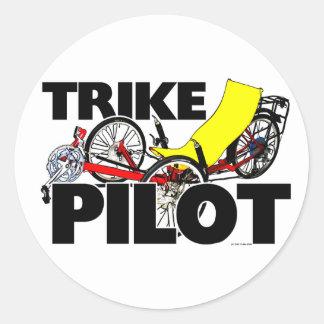 Piloto de Trike Etiqueta Redonda