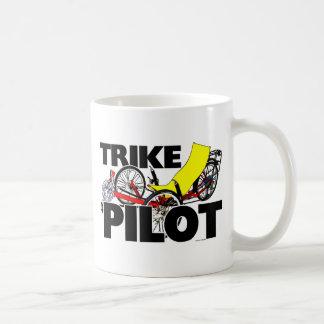 Piloto de Trike Taza Básica Blanca