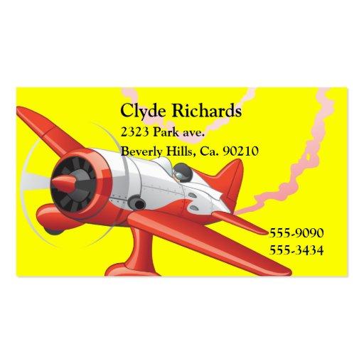 Piloto de truco en color del personalizado del tarjetas de visita
