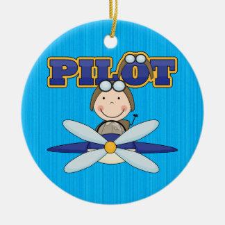 Piloto del aeroplano ornamento para reyes magos