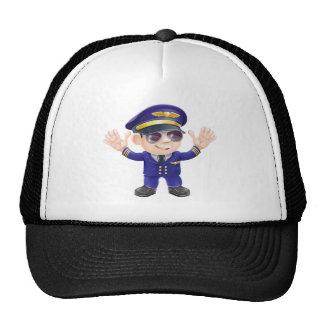 Piloto del aeroplano del dibujo animado gorras de camionero