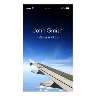 Piloto del aeroplano - estilo plano adaptable de tarjetas de visita