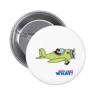 Piloto del aeroplano - medio pin redondo 5 cm