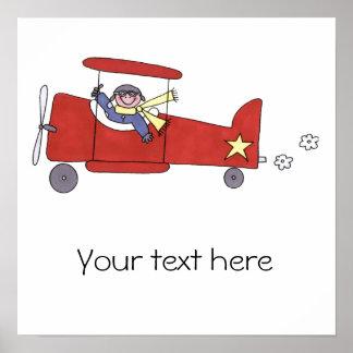 Piloto del aeroplano póster
