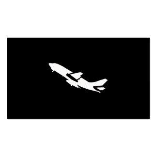 Piloto del aeroplano tarjetas de visita