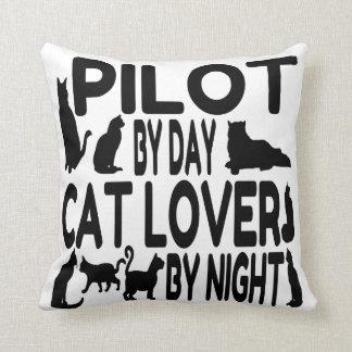 Piloto del amante del gato cojín decorativo