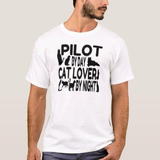 Piloto del amante del gato playera