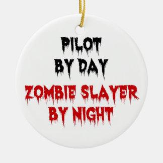 Piloto del asesino del zombi del día por noche adornos