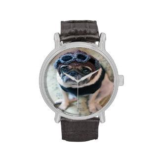 Piloto del barro amasado reloj de mano