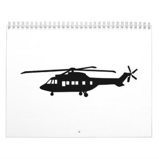 Piloto del helicóptero calendarios