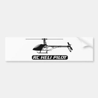 Piloto del helicóptero de RC Etiqueta De Parachoque