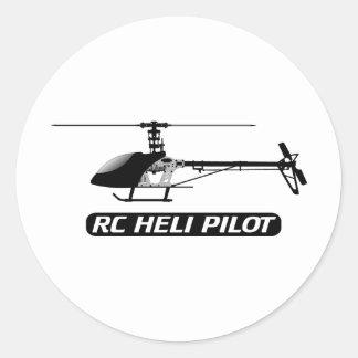 Piloto del helicóptero de RC Etiquetas