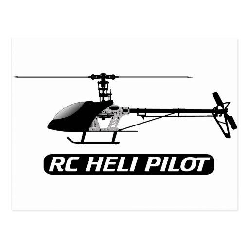 Piloto del helicóptero de RC Tarjeta Postal