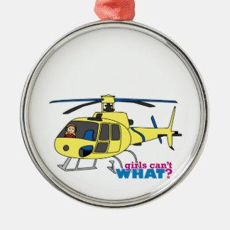 Piloto del helicóptero ornamento de navidad