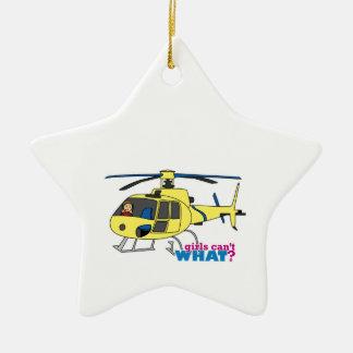 Piloto del helicóptero adorno para reyes