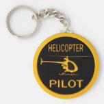 Piloto del helicóptero llavero personalizado