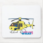 Piloto del helicóptero tapetes de ratón