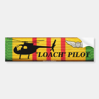 "Piloto del ""Loach OH-6"" - pegatina para el paracho Etiqueta De Parachoque"