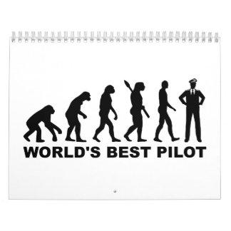Piloto del mundo de la evolución el mejor calendarios de pared