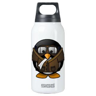 Piloto del pingüino botella isotérmica de agua