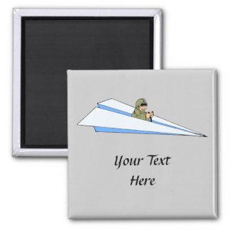 Piloto divertido del aeroplano de papel imán para frigorifico