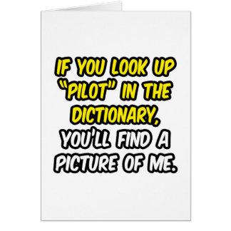 Piloto en diccionario… mi imagen tarjetas