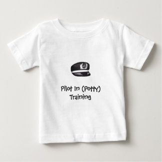 Piloto en el entrenamiento (del Potty) Playera De Bebé