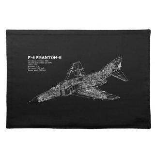 Piloto fantasma del avión de combate (avión manteles