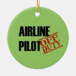 Piloto FUERA DE SERVICIO de la línea aérea Ornamento De Navidad