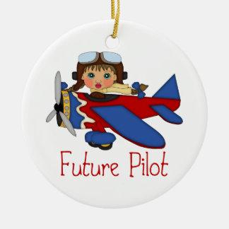 Piloto futuro adorable, piloto del helicóptero - C Adornos