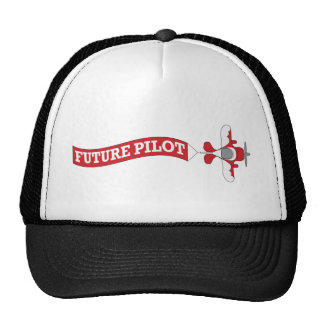 Piloto futuro - avión con la bandera gorros