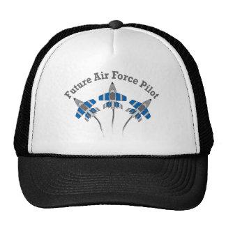Piloto futuro de la fuerza aérea gorras