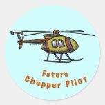 Piloto futuro del helicóptero pegatina