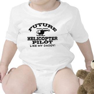 Piloto futuro del helicóptero traje de bebé