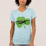Piloto irlandés afortunado camisetas