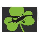 Piloto irlandés afortunado tarjetas