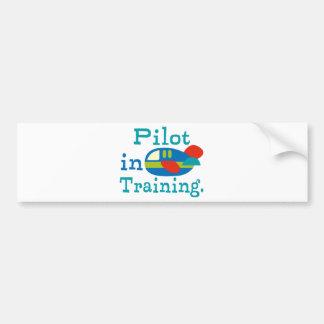 Piloto personalizado en el entrenamiento pegatina para auto