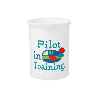 Piloto personalizado en el entrenamiento jarras de beber